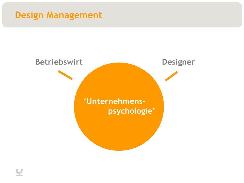 Design Management BetriebswirtDesigner Unternehmens- psychologie