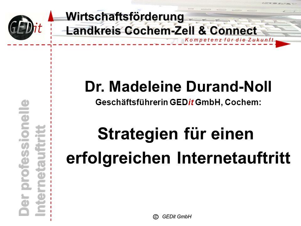 Wirtschaftsförderung Landkreis Cochem-Zell & Connect Der professionelle Internetauftritt Dr.