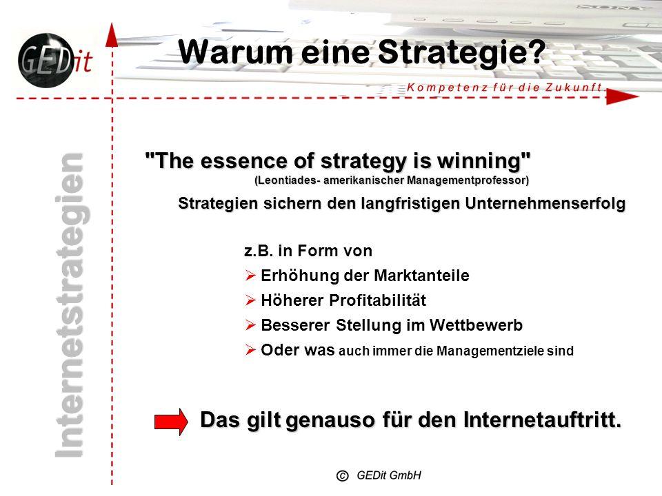 Warum eine Strategie.