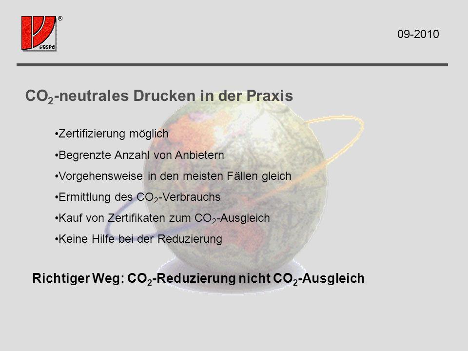Einflussgrößen im Drucksaal Energie IPA im Wasserumlauf Waschmittel und Reiniger Papier 09-2010