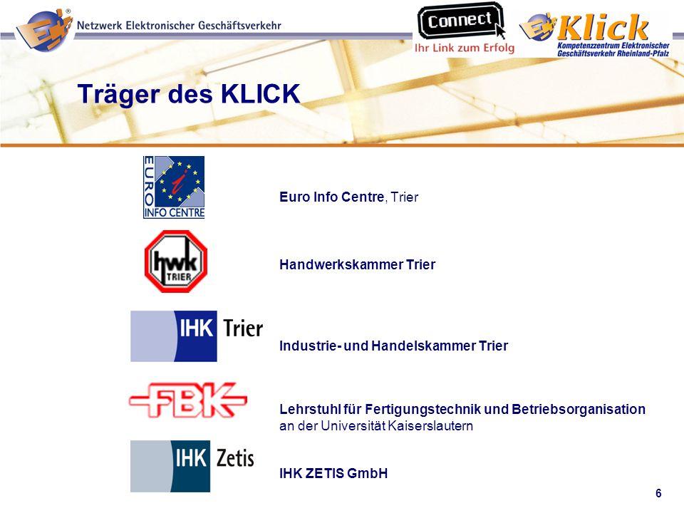 6 Verkaufen über eBay Euro Info Centre, Trier Handwerkskammer Trier Industrie- und Handelskammer Trier Lehrstuhl für Fertigungstechnik und Betriebsorg