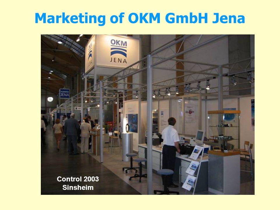 Marketing of OKM GmbH Jena Control 2003 Sinsheim