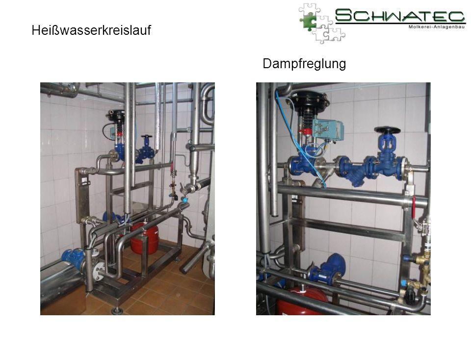 Heißwasserkreislauf Dampfreglung
