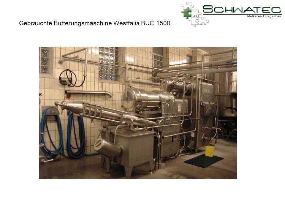 Gebrauchte Butterungsmaschine Westfalia BUC 1500