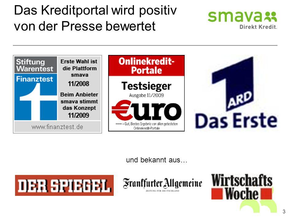 Das Kreditportal wird positiv von der Presse bewertet und bekannt aus… 3