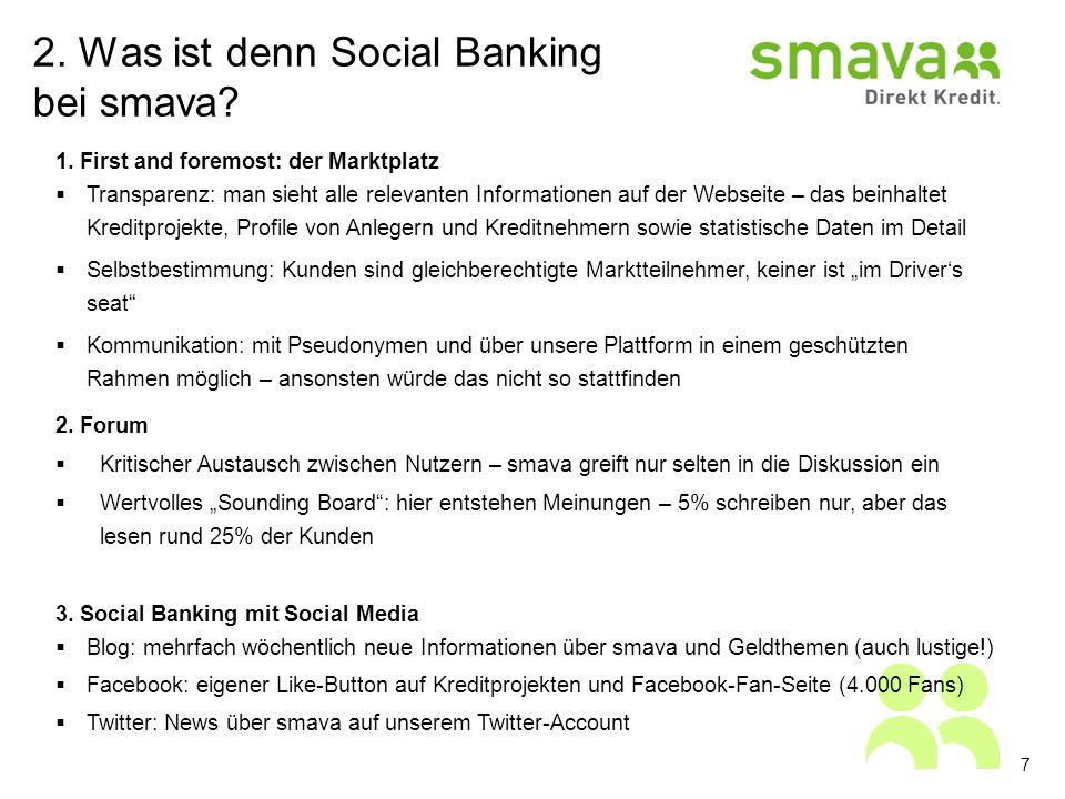 2. Was ist denn Social Banking bei smava. 7 1.