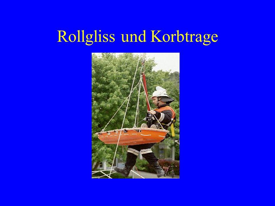 Höhenunterschiede beim Rollgliss Abseilen mit einfacher Seilführung ca.
