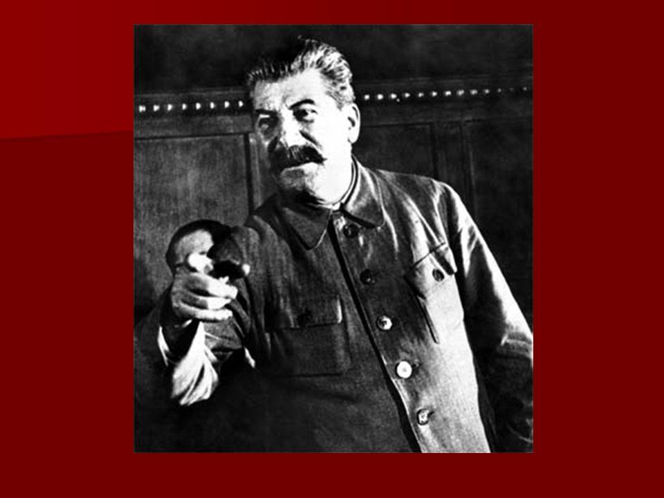 Politische Karriere Neugeschaffene Amt des Generalsekretärs -> Schlüsselstellung der innerparteilichen Machtbasis Stalins Neugeschaffene Amt des Generalsekretärs -> Schlüsselstellung der innerparteilichen Machtbasis Stalins Warnungen Lenins vor den Ambitionen Stalins - Stalin behält seine Ämter auch nach Tod Lenins Warnungen Lenins vor den Ambitionen Stalins - Stalin behält seine Ämter auch nach Tod Lenins Ausschaltung seiner Konkurrenten keine Duldung innerparteilicher Opposition Ausschaltung seiner Konkurrenten keine Duldung innerparteilicher Opposition Durch uneingeschränkte Machtfülle -> Zwangskollektivierung in Landwirtschaft und einer rücksichtslosen Industrialisierung mit Hilfe von Fünfjahrplänen Durch uneingeschränkte Machtfülle -> Zwangskollektivierung in Landwirtschaft und einer rücksichtslosen Industrialisierung mit Hilfe von Fünfjahrplänen Durch Großen Säuberung Vernichtung aller Gegner seiner Herrschaft.