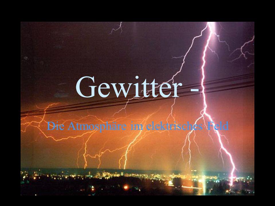 Gewitter - Die Atmosphäre im elektrisches Feld