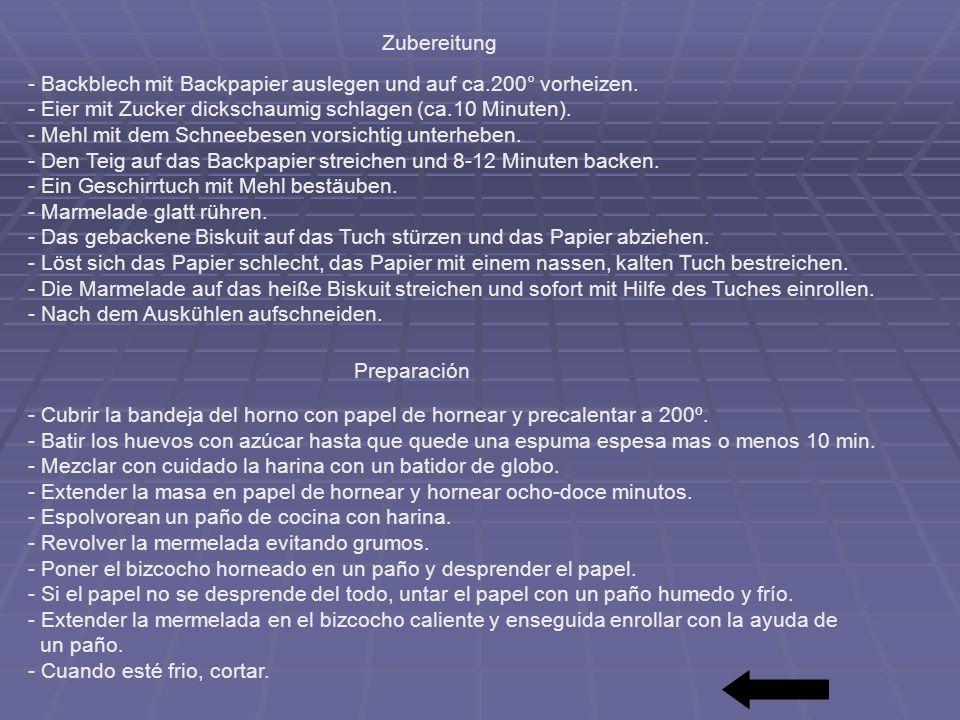 - Backblech mit Backpapier auslegen und auf ca.200° vorheizen.