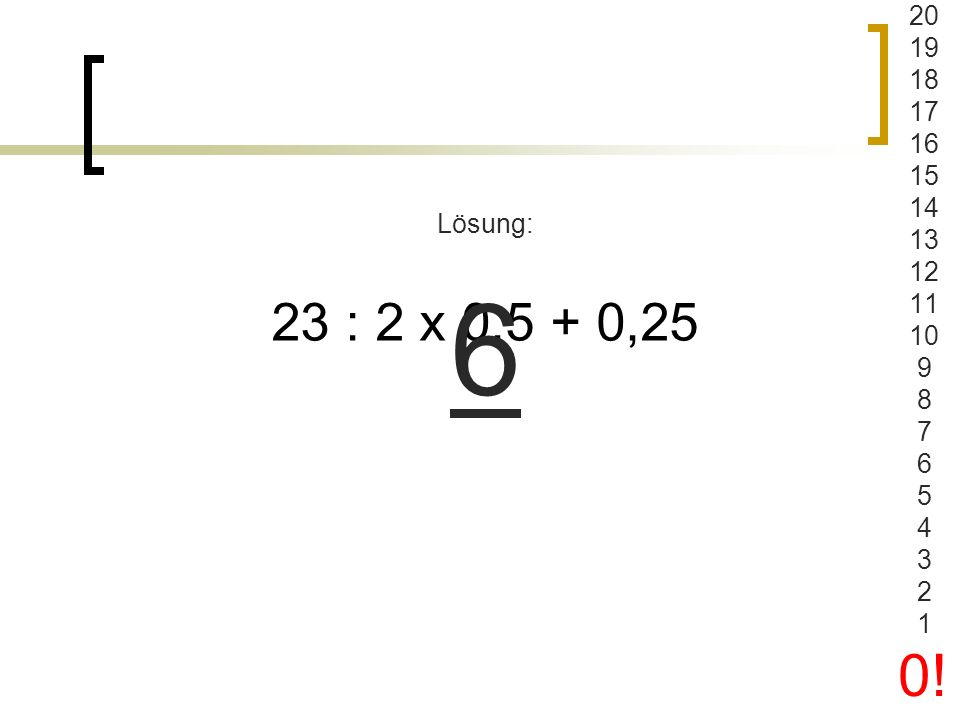 Level 4 Maximale Zeit 20 Sekunden