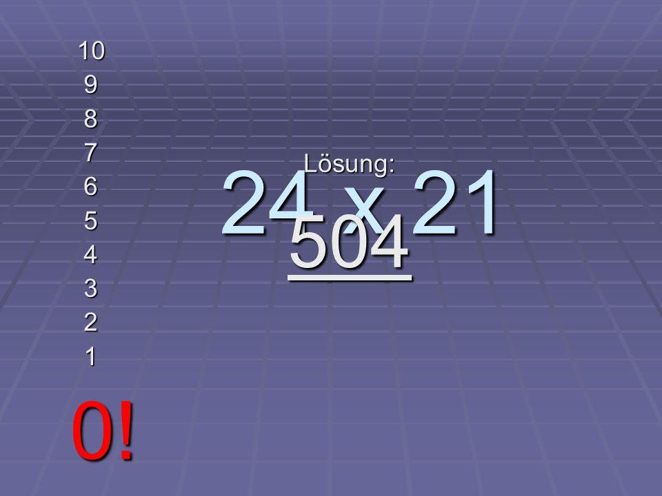 LEVEL 3 Maximale Zeit 10 Sekunden