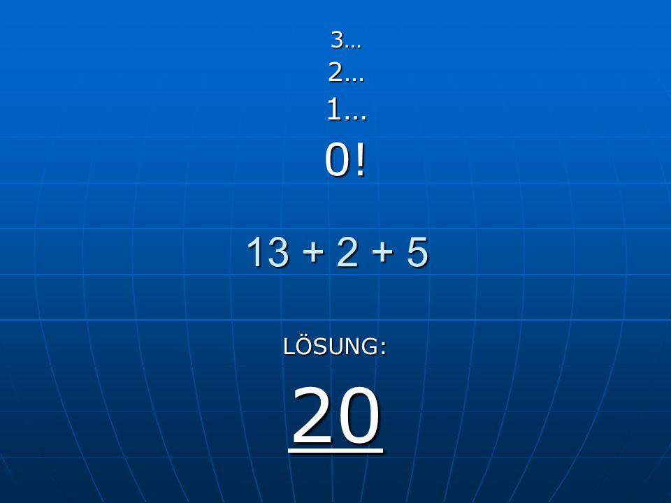 Level 1 Maximale Zeit 3 Sekunden