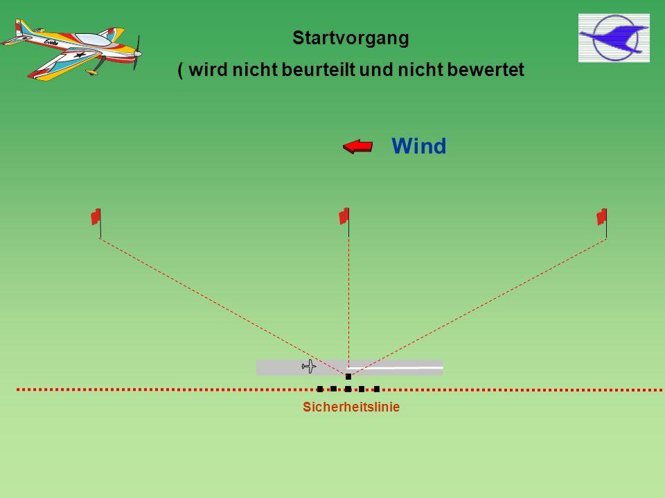 Startvorgang ( wird nicht beurteilt und nicht bewertet Sicherheitslinie Wind