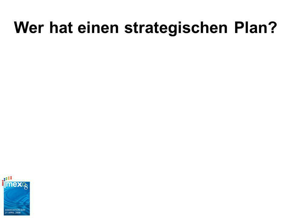 Wer hat einen strategischen Plan