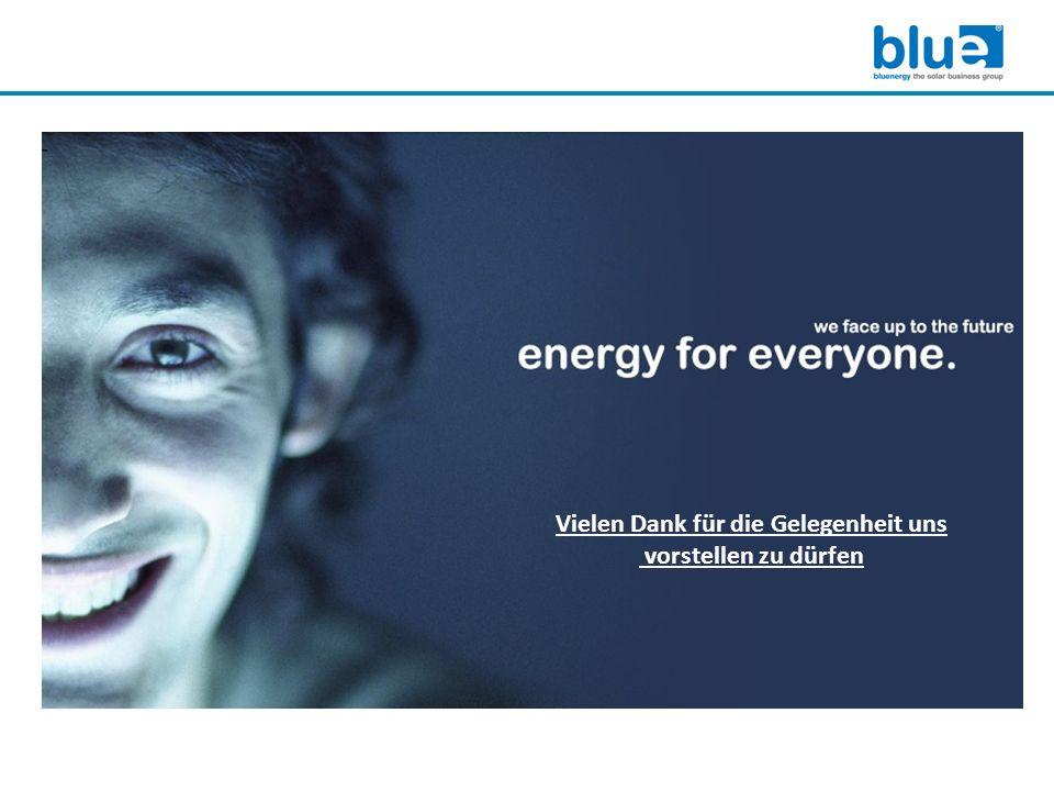 www.bluesolargroup.com Die Firma Blue GmbH wurde 2006 gegründet Spezialisiert auf Photovoltaik mit folgenden Schwerpunkten: Groß- und Fachhandel Engineering, Planung und Projektierung Generalunternehmerschaft für Freilandanlagen Solare Kühlung sowie Kälte-, Klima- und Lüftungstechnik Wer wir sind www.bluesolargroup.com