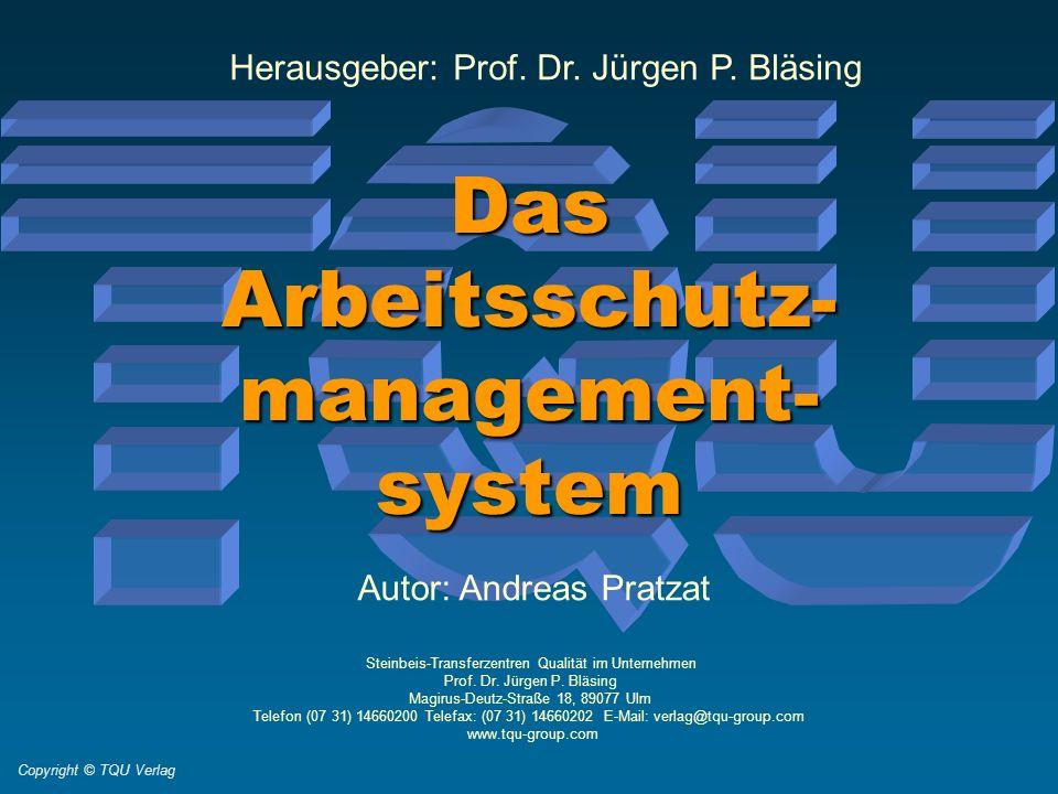 Steinbeis-Transferzentren Qualität im Unternehmen Prof. Dr. Jürgen P. Bläsing Magirus-Deutz-Straße 18, 89077 Ulm Telefon (07 31) 14660200 Telefax: (07