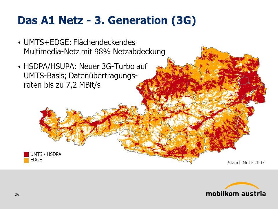 36 Stand: Mitte 2007 Das A1 Netz - 3.