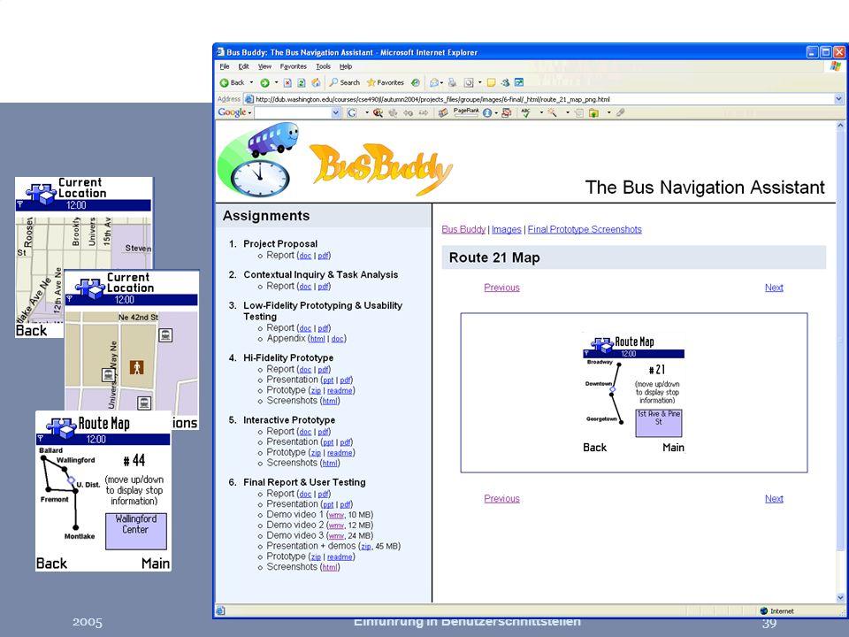 2005Einführung in Benutzerschnittstellen39