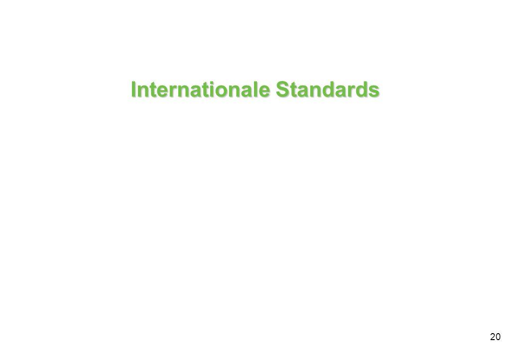 20 Internationale Standards