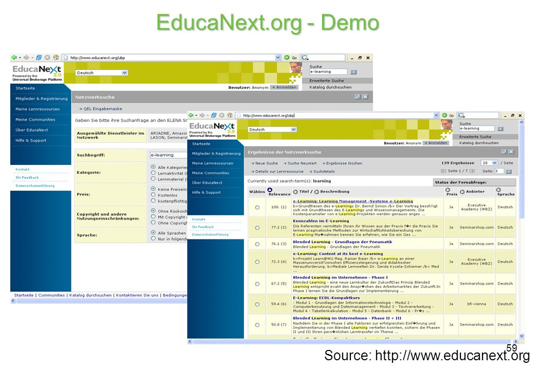 59 EducaNext.org - Demo Source: http://www.educanext.org