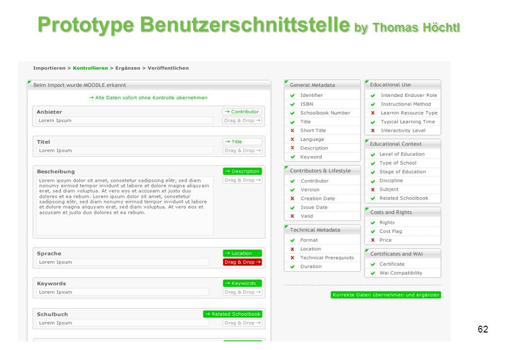 62 Prototype Benutzerschnittstelle by Thomas Höchtl