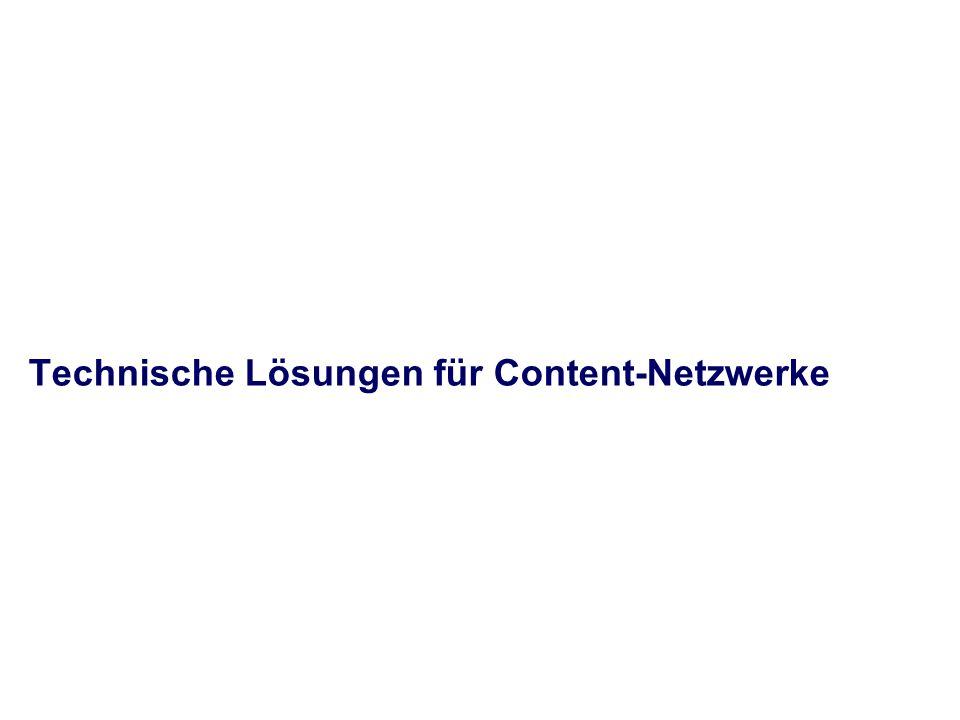 Technische Lösungen für Content-Netzwerke