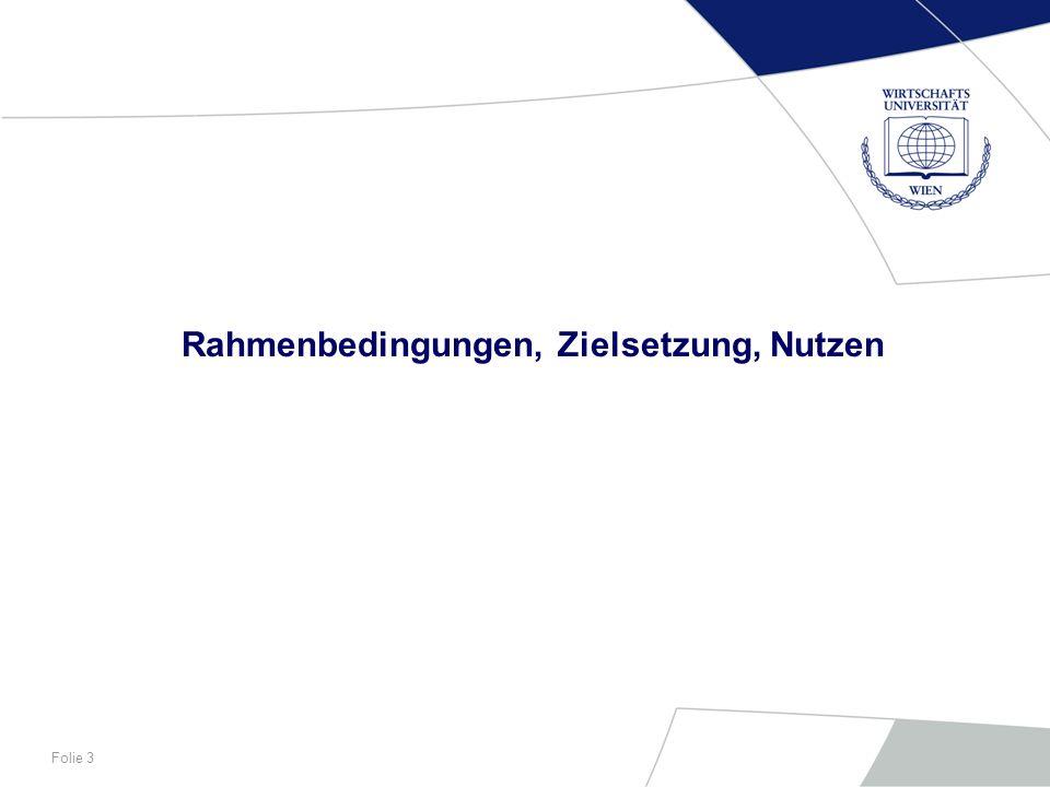 Folie 4 Die Wirtschaftsuniversität Wien Gegründet 1898 als k.k.