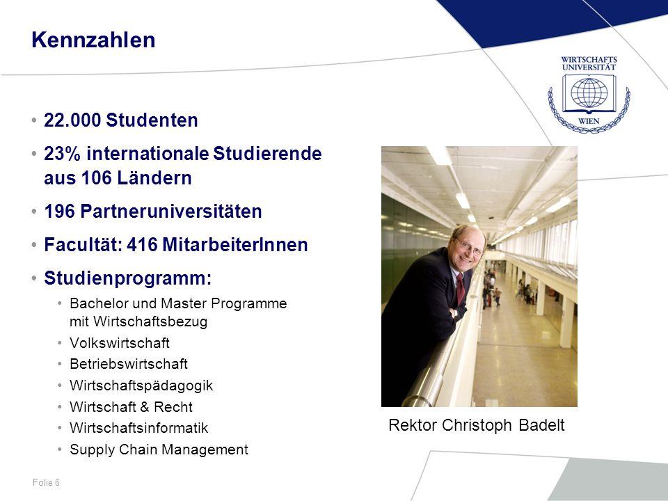 Folie 7 Wirtschaftsinformatik und Neue Medien Univ.Prof.