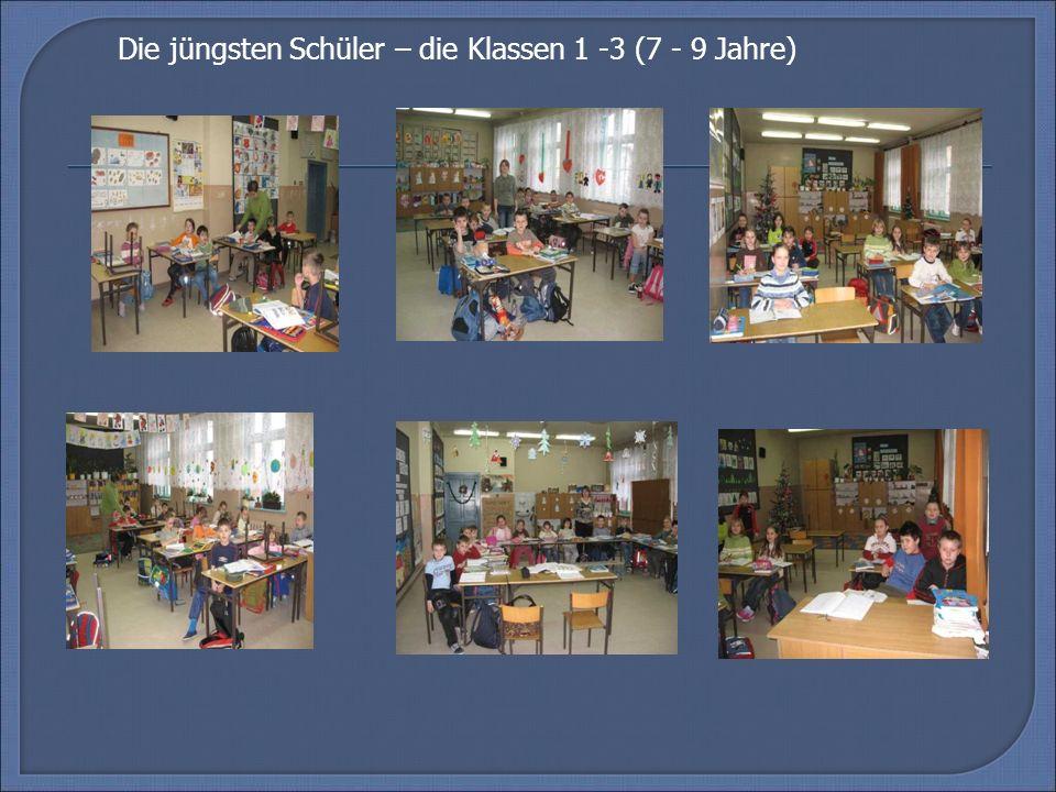 Unsere Schule besteht aus 2 verschiedenen Schulen: 1.Die Grundschule (die Schüler von 7 bis 12 Jahre – 6 Klassen) 2.Das Gymnasium (die Schüler von 13 bis 16 Jahre – 3 Klassen) Wir gehen ins gleiche Gebäude, aber die Klassen sind geteilt.