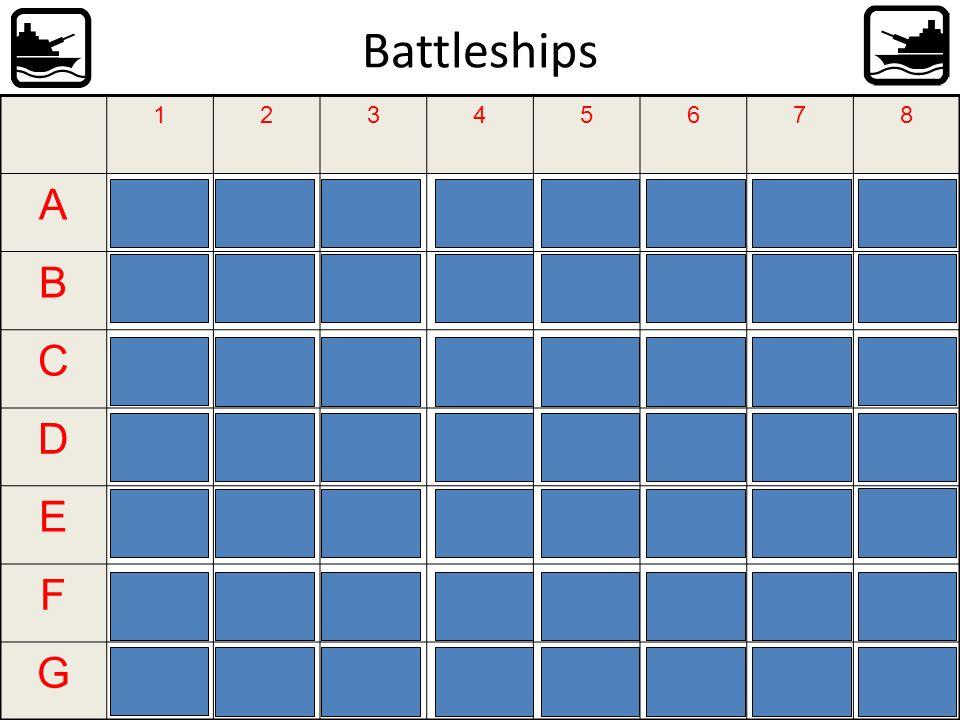 Battleships 12345678 A Ich werde alsMechan ikerin B arbeiten, weil ich etwas Praktisc hes machenmag. C D Ich werde als Lehrer arbeiten, weil E als Arz