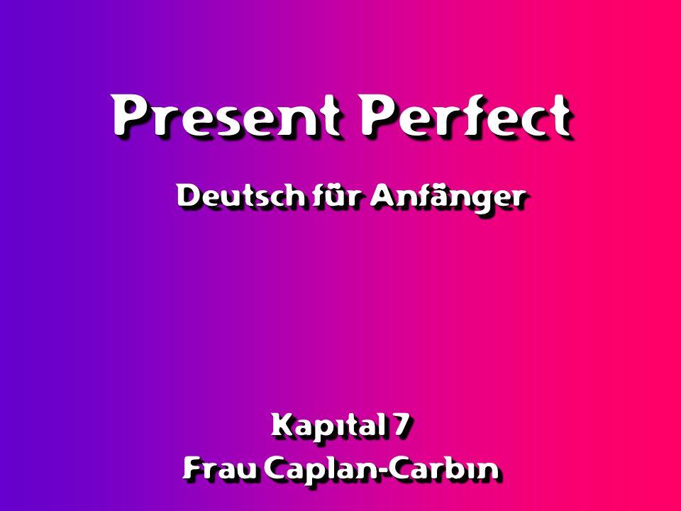 When a verb begins with a non-separable prefix, its participle does not take ge- vorbereitengehörengefallenbezahlenvergessenerzählenerklären Mutter hat alles vorbereitet.