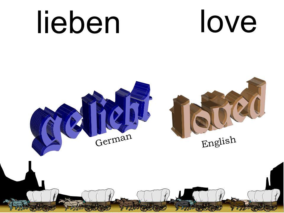 German English talk sagen love lieben