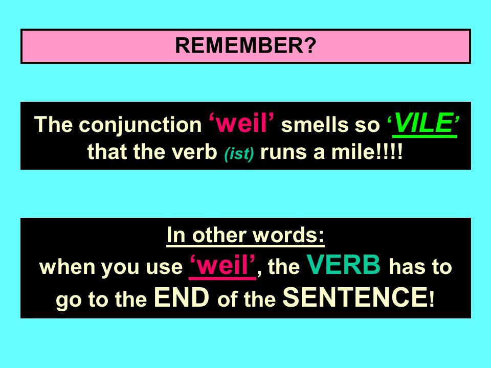 Lets have a look at how to make 1 sentence out of 2! Ich verstehe mich nicht gut mit meinem Vater Erist zu streng weiler ist (because) Ich verstehe mi