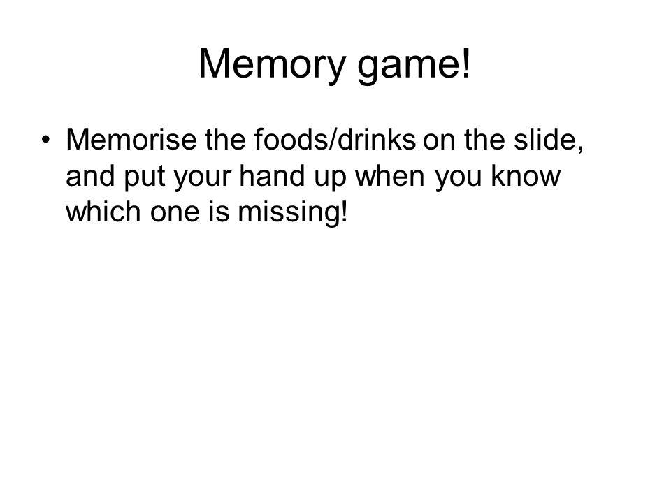 Memory game.