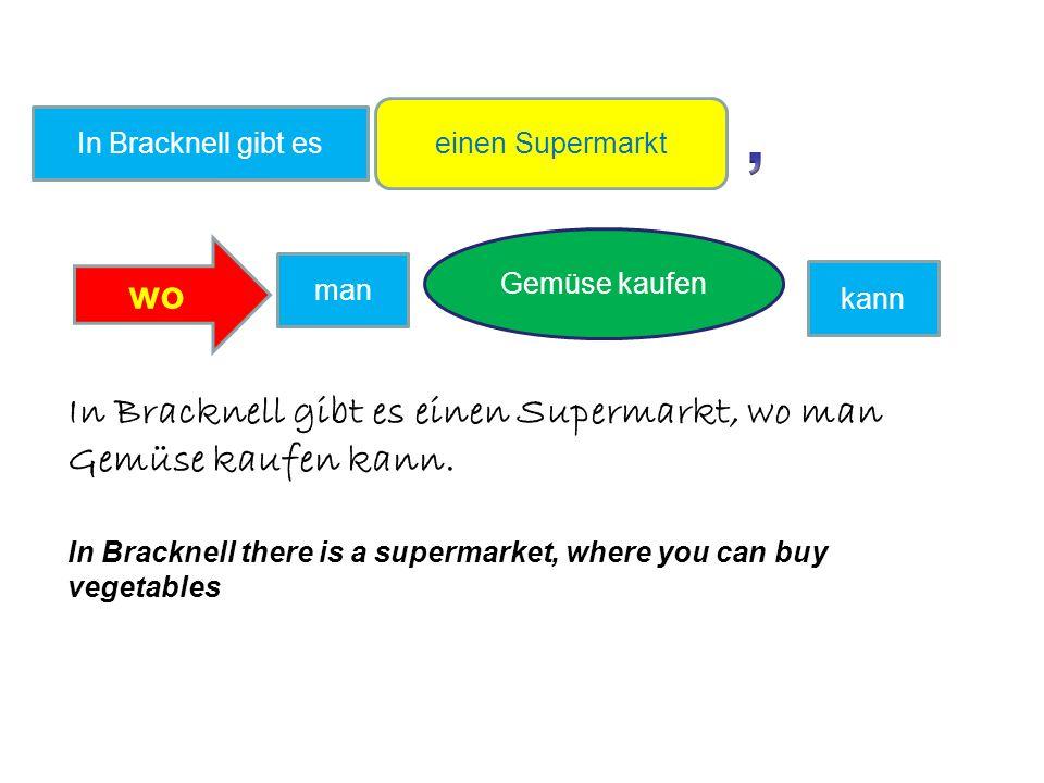 einen Supermarkt Gemüse kaufen In Bracknell gibt es wo man kann In Bracknell gibt es einen Supermarkt, wo man Gemüse kaufen kann.