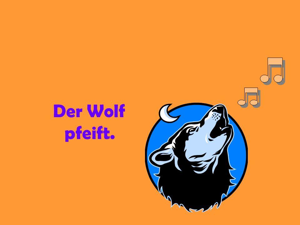Der Wolf sagt: Herr Vogel, du pfeifst gut, aber pfeifst du besser als ich?