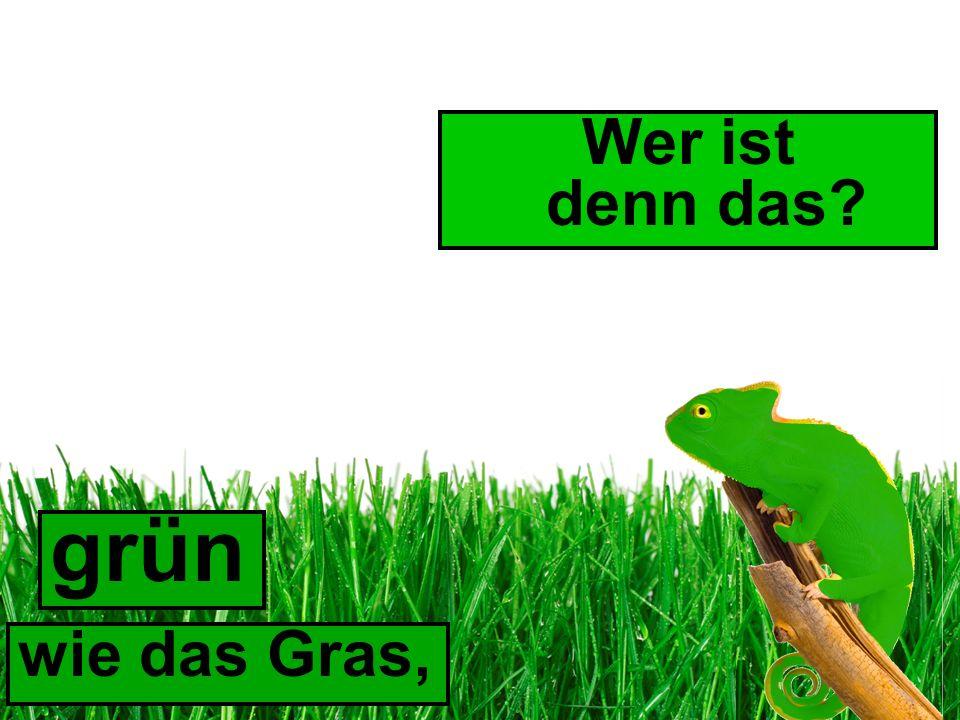 wie das Gras, grün Wer ist denn das?