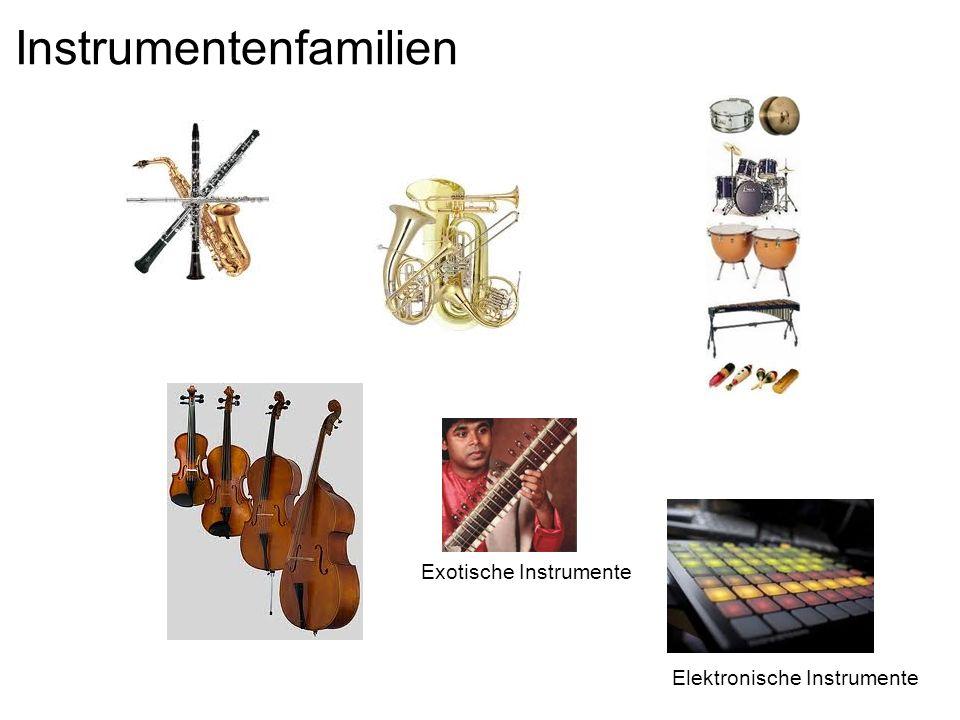 Instrumentenfamilien Exotische Instrumente Elektronische Instrumente