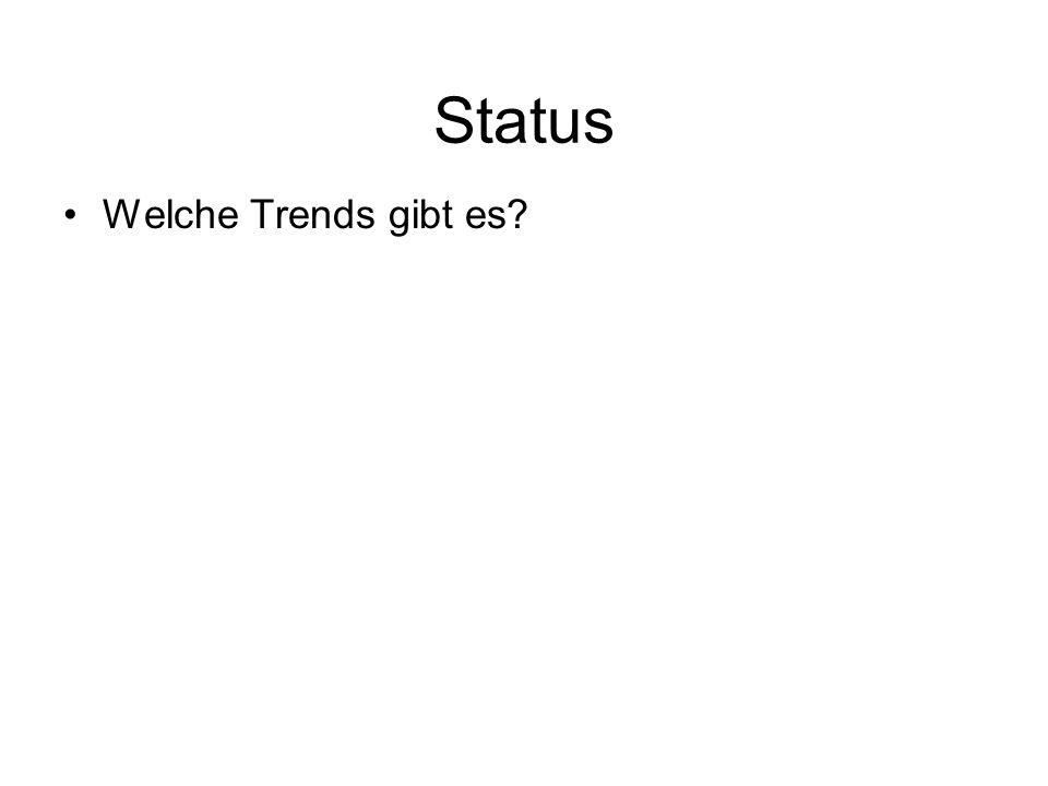 Status Welche Trends gibt es?