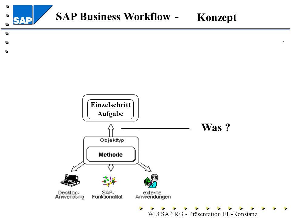 SAP Business Workflow - WI8 SAP R/3 - Präsentation FH-Konstanz Konzept Einzelschritt Aufgabe Was ?