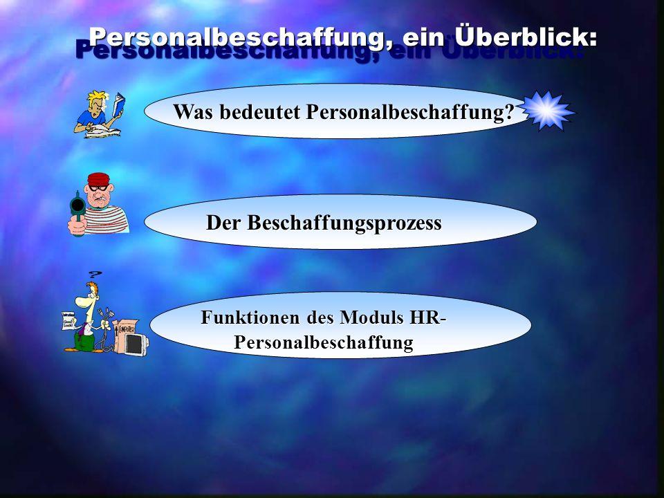 Personalwerbung Ausschreibung der Vakanzen durch Interne Medien, z.