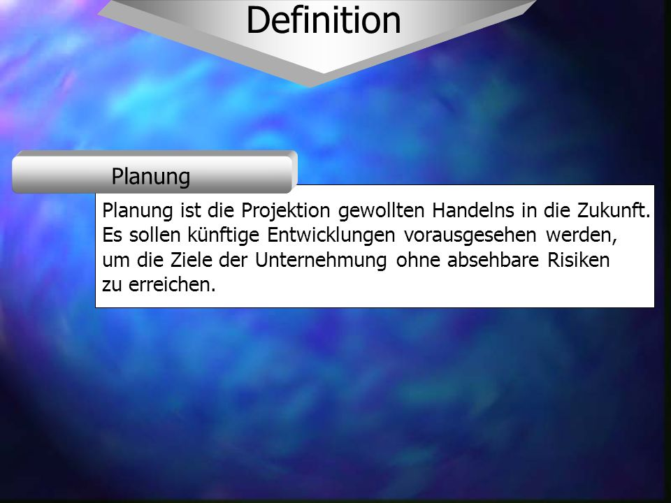Basisobjekte Eine Planstelle wird durch die Stelle beschrieben.