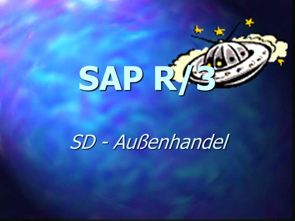 SAP R/3 SD - Außenhandel