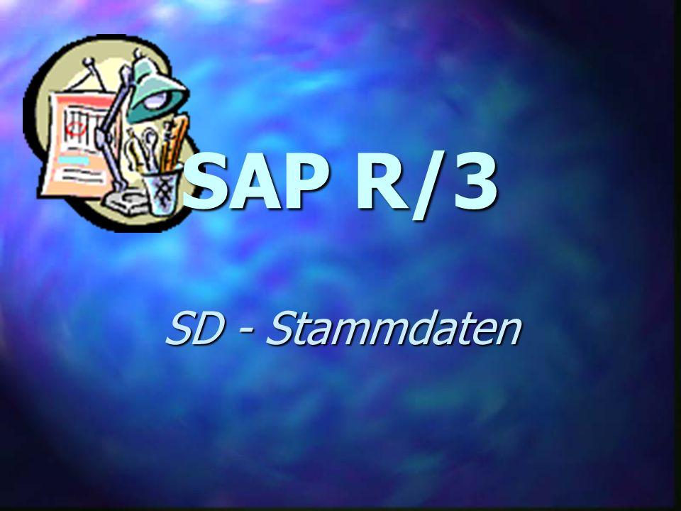 SAP R/3 SD - Stammdaten