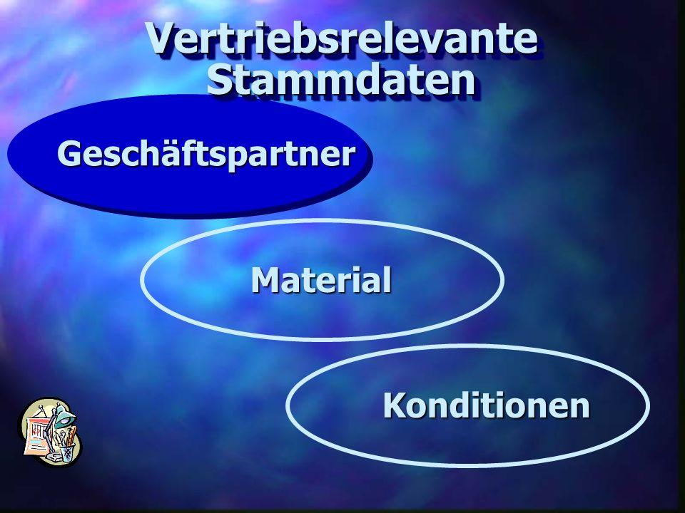 VertriebsrelevanteStammdatenVertriebsrelevanteStammdaten Geschäftspartner Material Konditionen