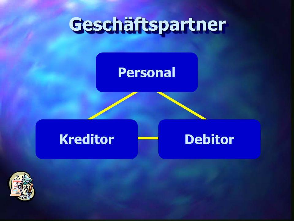 GeschäftspartnerGeschäftspartner Personal Debitor Kreditor