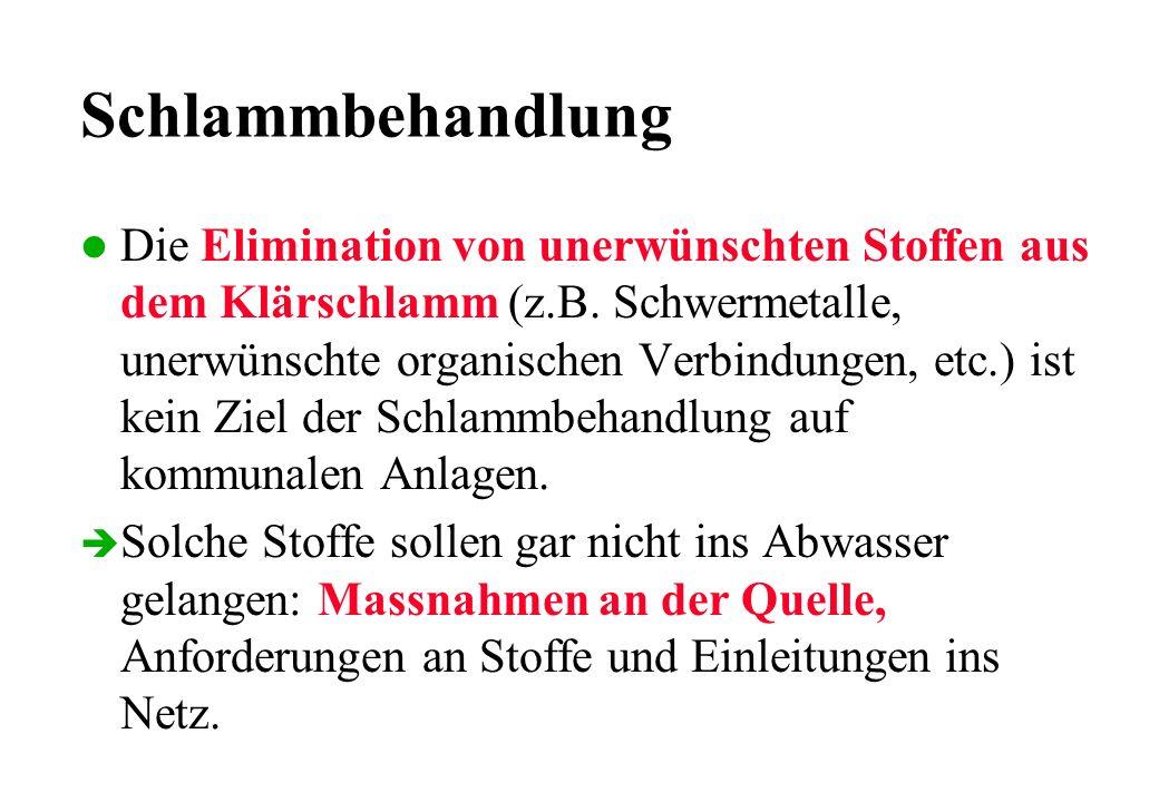 0 500 1000 1500 2000 198019821984198619881990 0 5 10 15 20 Jahr g Zink / t TSg Cadmium / t TS Zink Cadmium Schwermetalle im Klärschlamm der Stadt Zürich