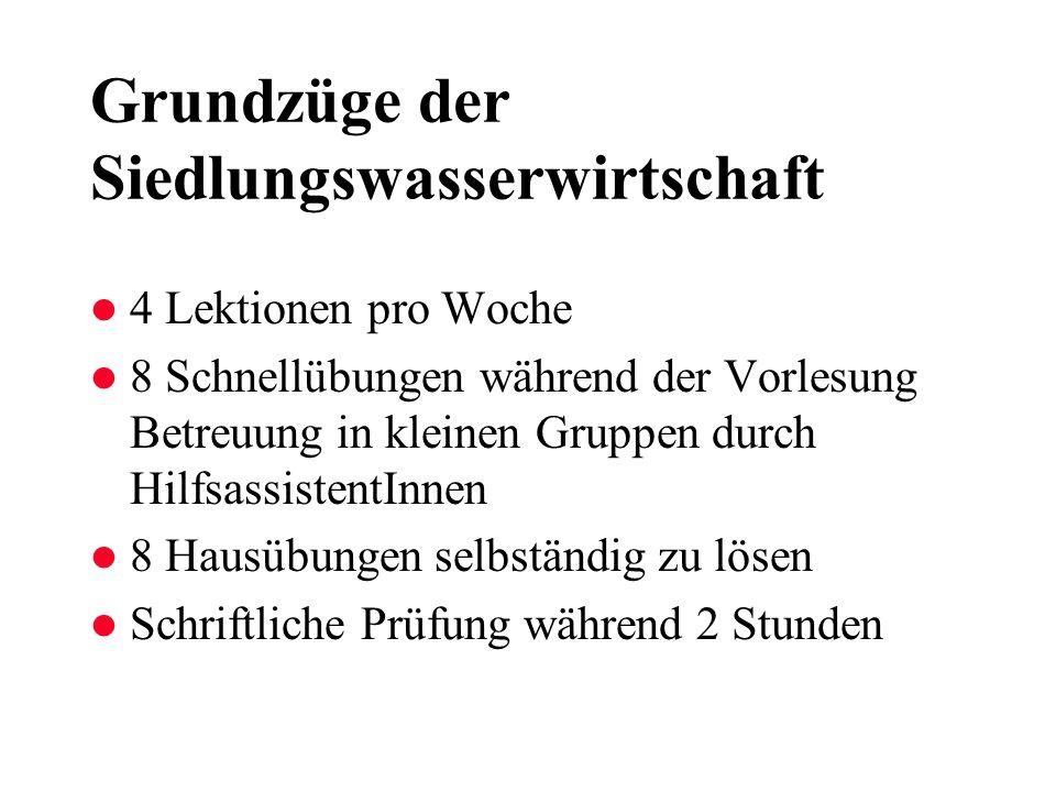 Unternehmen Siedlungswasserwirtschaft Gemeinde mit 2500 Einwohnern Wert des Unternehmens: Umsatz: 75 Mio.