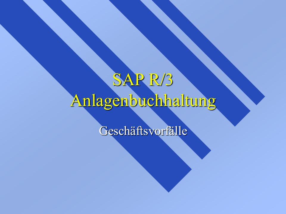 SAP R/3 Anlagenbuchhaltung Geschäftsvorfälle